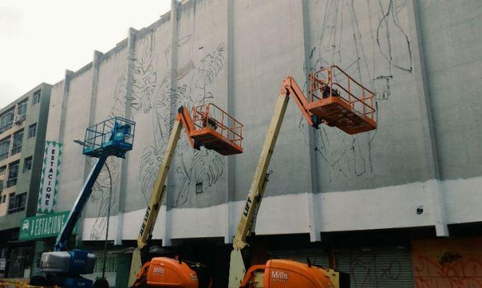 Início do processo no mural. Foto: Defenestrando